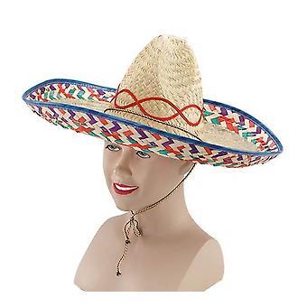 Bnov Mexican Straw Sombrero
