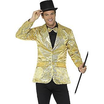 Sequin Jacket, Mens, Gold