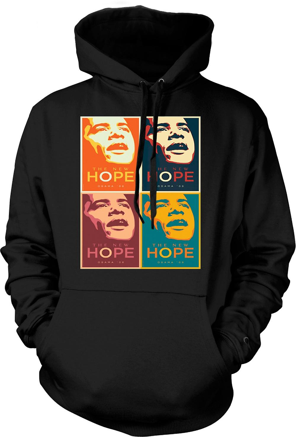 Mens Hoodie - Obama 08 The New Hope - Warhol