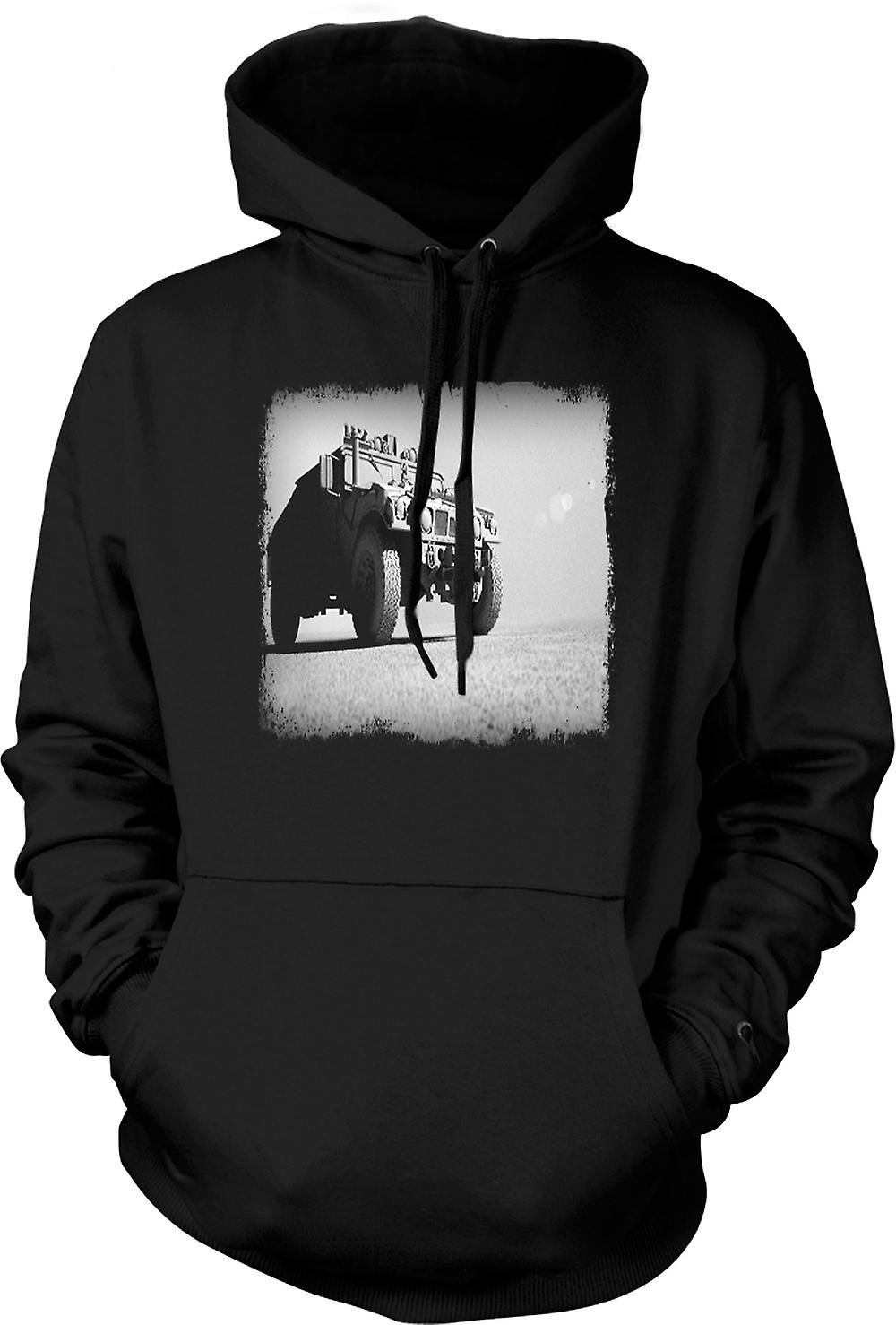 Mens Hoodie - US Army Humvee - Desert Warrior