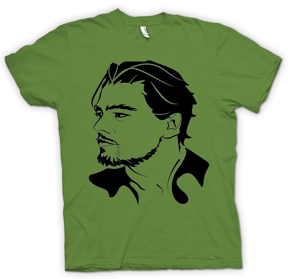 Mens T-shirt-Leonardo Dicaprio-Portrait