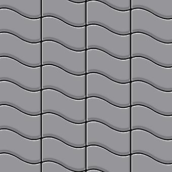 Mosaico de metal sólido Acero inoxidable ALLOY Flux-S-S-MA