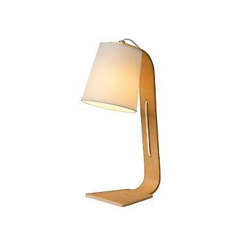 Lucide Nordic Scandinavian Wood White And Light Wood Table Lamp