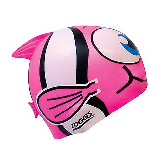 Junior Zoggs Silicone personagem nadar Cap - peixe rosa
