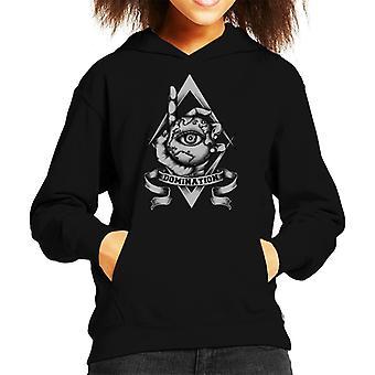 World Domination Eye Sketch Kid's Hooded Sweatshirt