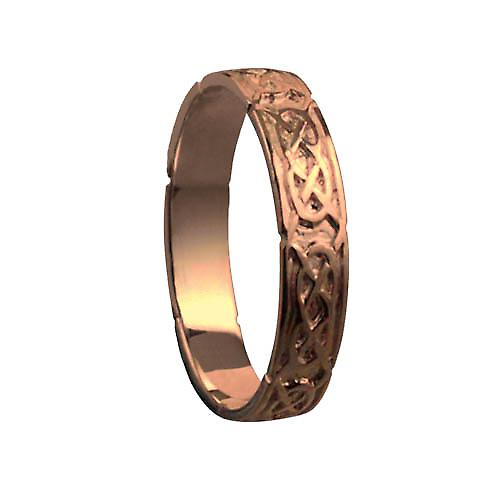 9ct rose gold 4mm Celtic Wedding Ring