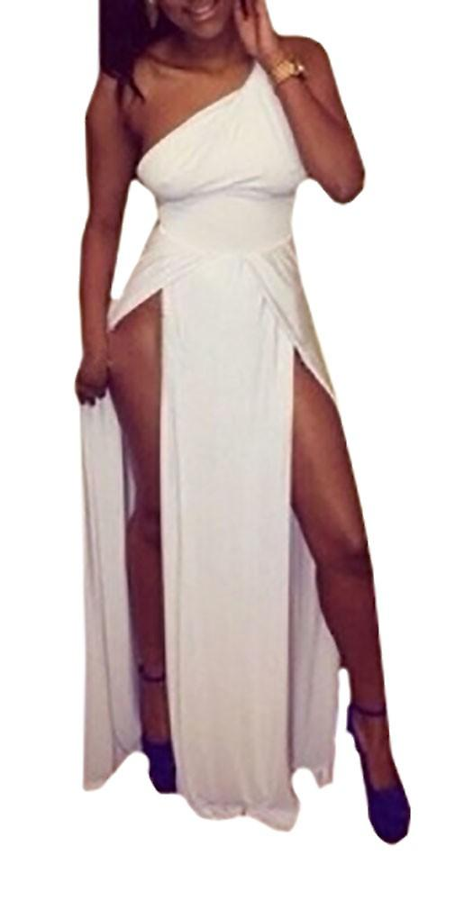 Waooh - Asymmetrical Evening Dress and split Cauria