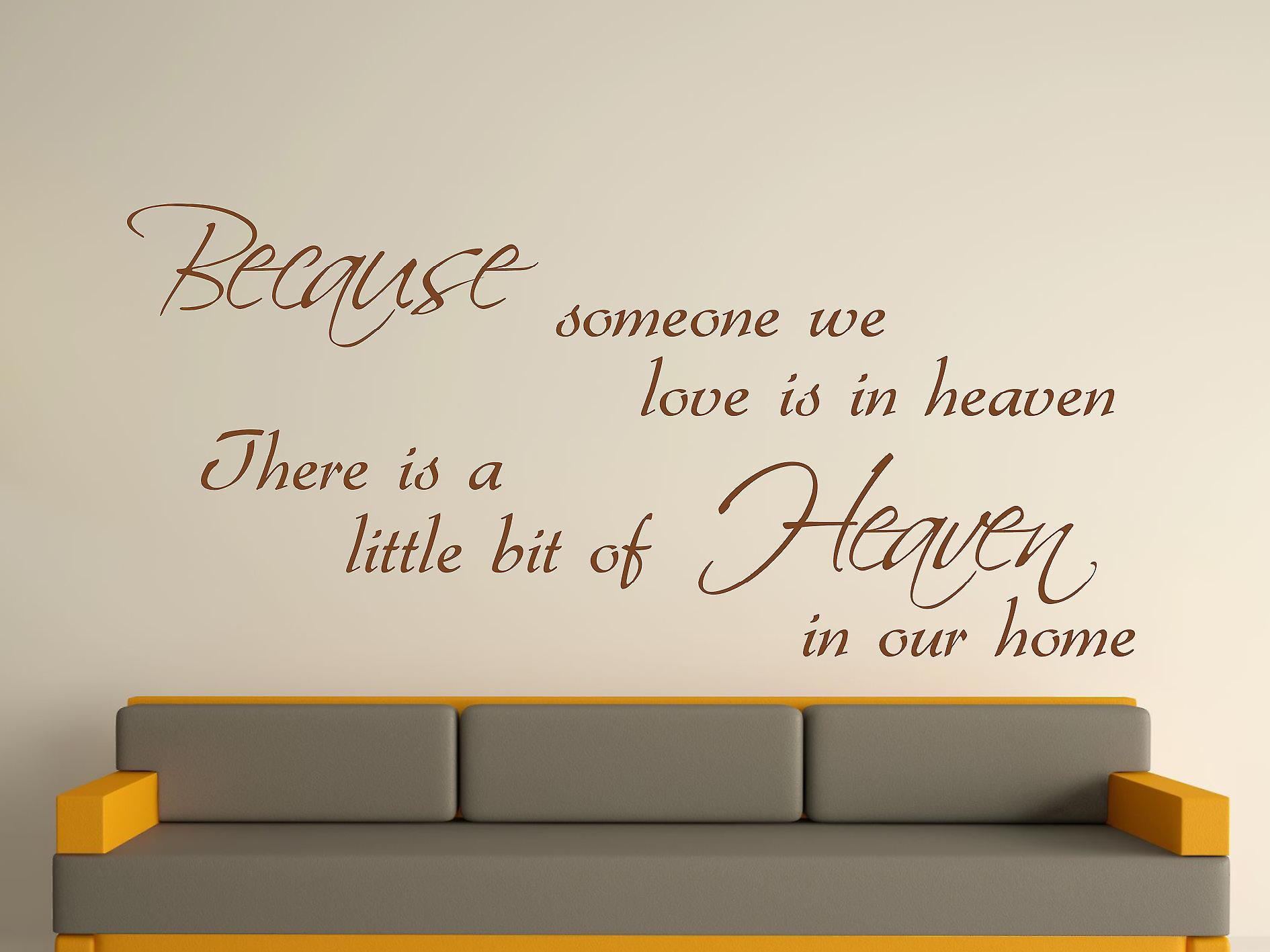 Because Someone Wall Art Sticker - Brown