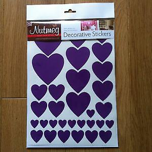 HEARTS VARIOUS SIZES  DECORATIVE STICKERS