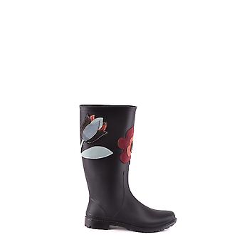 Red Valentino Black Fabric Boots