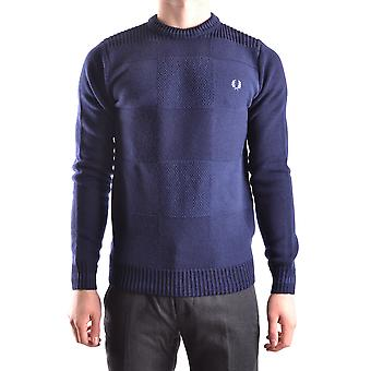 Fred Perry blå uld Sweater
