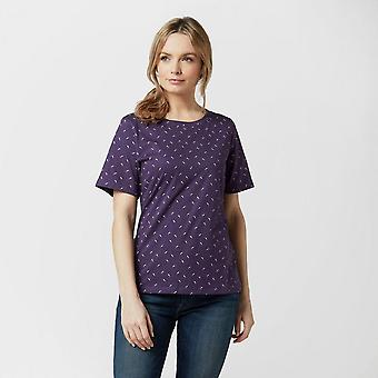 New Peter Storm Women-apos;s Angel Feather Short Sleeve T-Shirt Purple