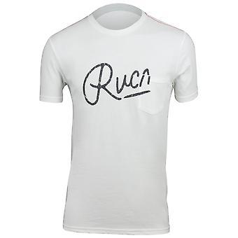 RVCA Mens Mowgli Script T-Shirt - Antique White
