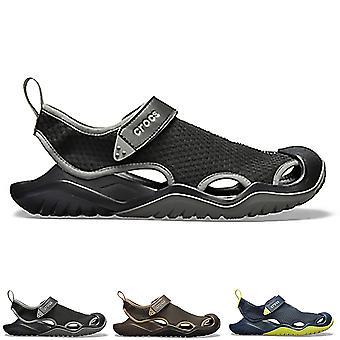 Mens Crocs Swiftwater Mesh däck Lightweight vatten Friendly Beach sandaler
