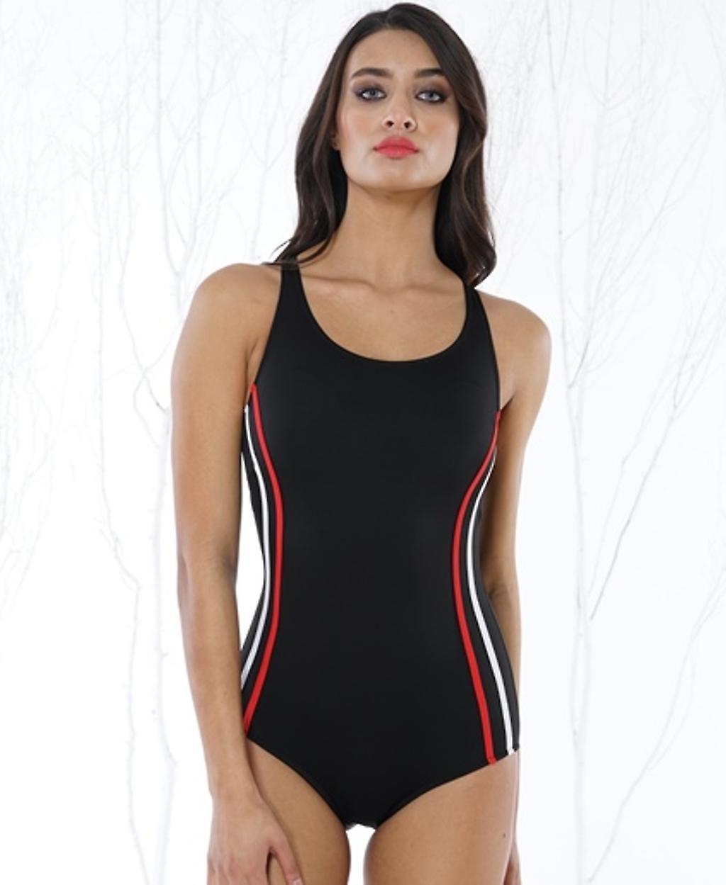 Aqua Perla - Womens  - Azur - Black- One Piece Swimwear