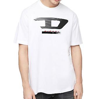 Diesel TJUSTY4 Jersey Tshirt met D Logo