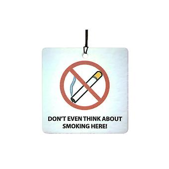 No Smoking Car Air Freshener