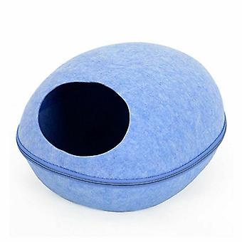 HooP Kattbädd avec oreiller, bleu