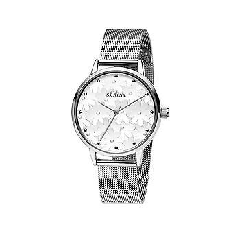 s.Oliver Damen Uhr Armbanduhr Edelstahl SO-3788-MQ
