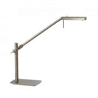 Mantra Phuket Table Lamp 1 Light 7W LED 3000K, 600lm, Satin Nickel, 3yrs Warranty
