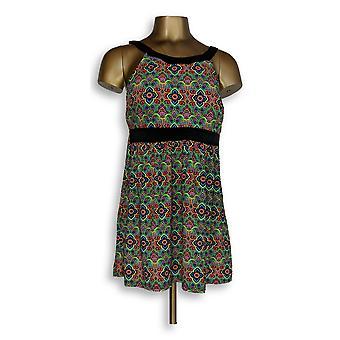 Fit 4 U Swimsuit Hi Neck Dresskini Brief Green/ Black A304230