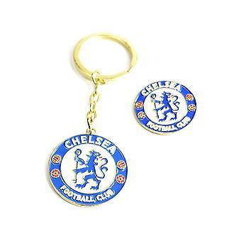 Chelsea Keychain Nyckelring + Badge
