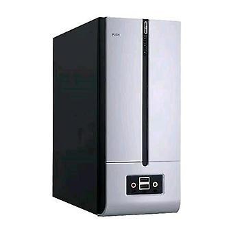 Inwin bm639s cabinet smal-tower 180w black/silver