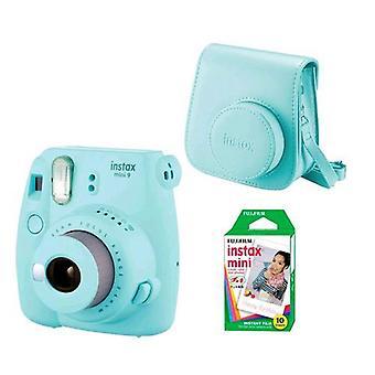 Fujifilm instax mini 9 kit 10 prints + ice bag blue