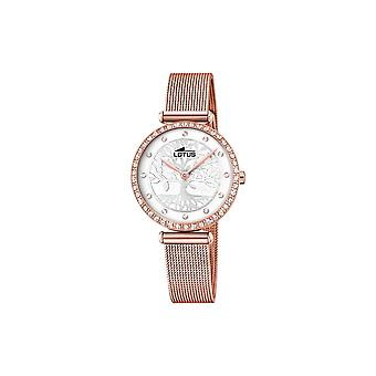 Watch Lotus L18711-1 - Bliss life tree pvd gold rose dial silver tree pattern Swarovski crystals and milanese rose gold bracelet