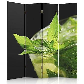 Room Divider, 4 Panels, Double-Sided, Rotatable 360 ??° Canvas, Refreshing Mint