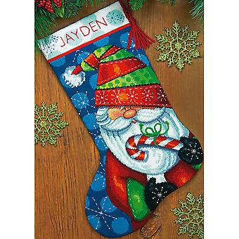 Sweet Santa Stocking Needlepoint Kit-16