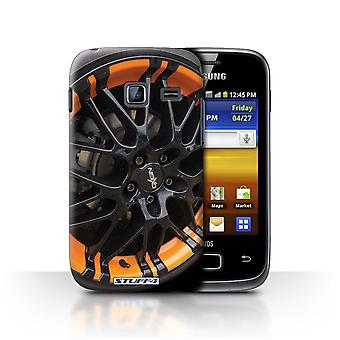 STUFF4 Case/Cover for Samsung Galaxy Y Duos/S6102/Black/Orange/Alloy Wheels
