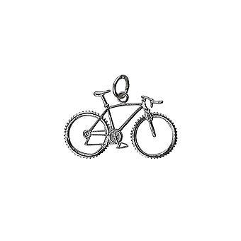 17x29mm argent vélo et cycliste pendentif ou charme