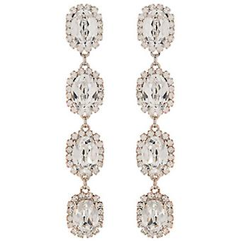 Martine Wester Crystal Oval Stoned Drop Earrings