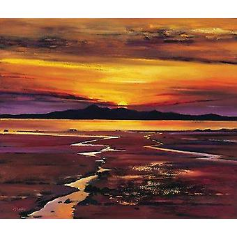 Davy Brown print - Fading Sun, Arran