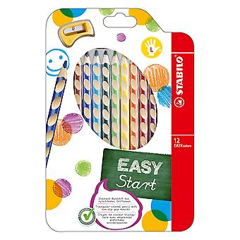 STABILO Easycolors left-handed-Fall 12pcs + Anspitzer