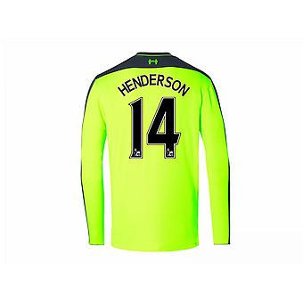 2016-17 Liverpool Third Long Sleeve Shirt (Henderson 14) - Kids
