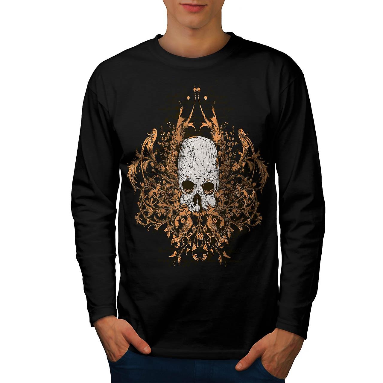 Monster Horror Skull Ghost Story Men Black Long Sleeve T-shirt | Wellcoda