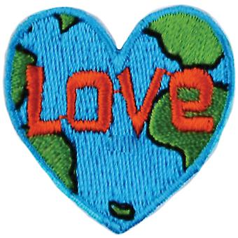 Iron-On Appliques-Love Earth A001300-250