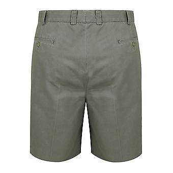 Khaki Chino Shorts With Elasticated Waist Insert