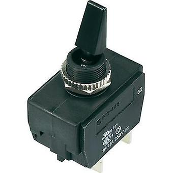 Toggle switch 250 Vac 16 A 2 x Off/On SCI R13-448F3-01A-HR IP56 latch 1 pc(s)