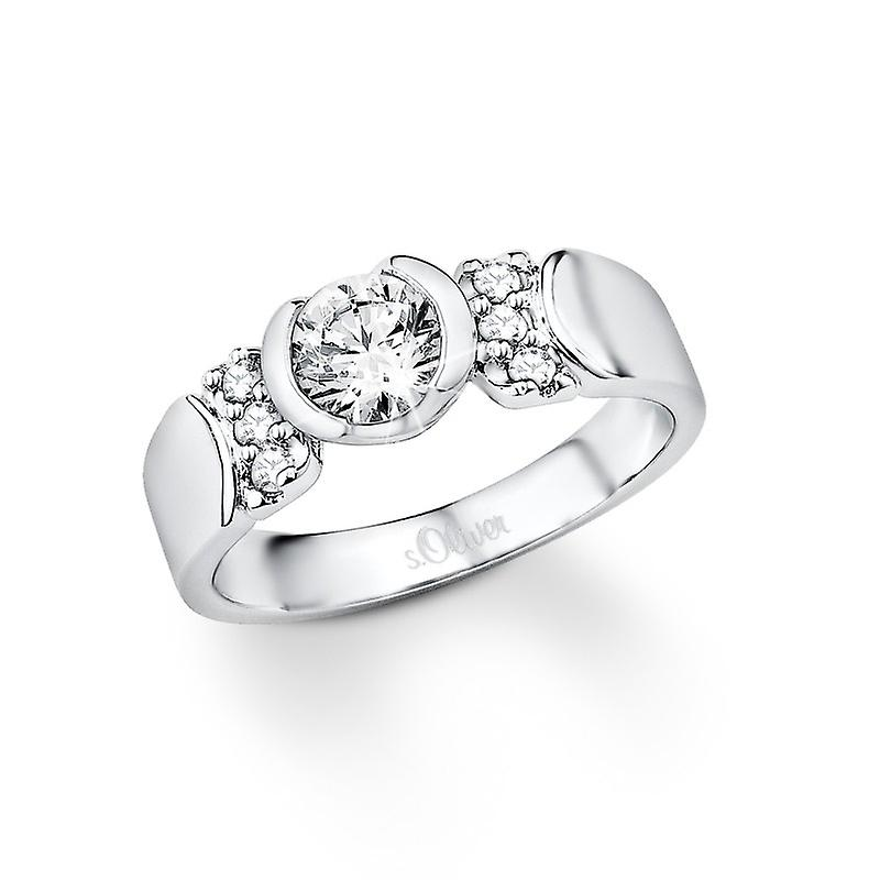 s.Oliver Jewel ladies ring silver Zirkonia SO840
