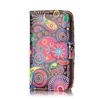 Projeto livro carteira caso capa para Samsung Galaxy S5 mini SM-G800 - água-viva
