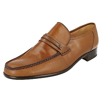 Mens Grenson Smart Slip On Moccasin Shoes Albany