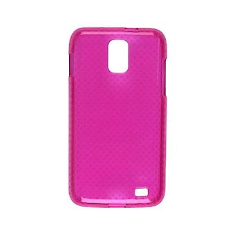 Dura-Gel TPU hud telefoncoveret Protector Case blomme Pink For Samsung Galaxy S 2 Sk