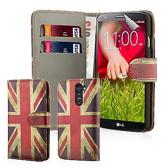 Дизайн книги пу кожаный чехол для LG G2 (D802) - Юнион Джек Великобритании Флаг