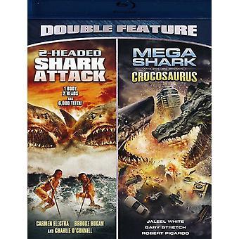2 overskriften haj angreb/Mega Shark vs. Crocosaurus [BLU-RAY] USA import