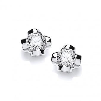 Cavendish French Sterling Silver and CZ Stud Earrings