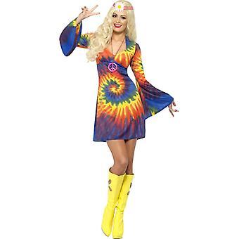 60s cosplay costume hippie donne arcobaleno di potenza di fiore arcobaleno