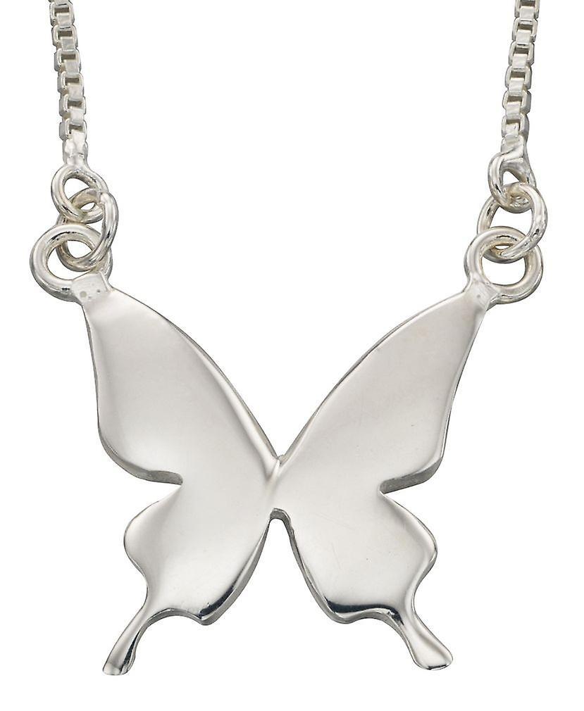 925 серебряные модным бабочки ожерелье